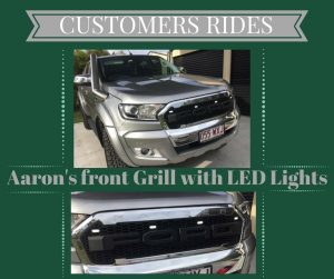 CUSTOMERS front grill with led lights advert
