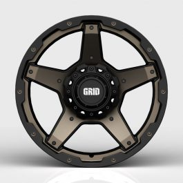 GRID GD04 DOUBLE DARK TINT / GLOSS BLACK LIP GVM LANDCRUISER WHEEL 1650KGS (17X9 5X150 -12)