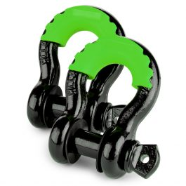 CAOS 2PCS SHACKLE PROTECTOR AND 4 ISOLATORS – GREEN