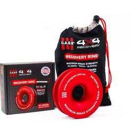"""CAOS 4"""" ALUMINIUM RECOVERY RING (RED)"""