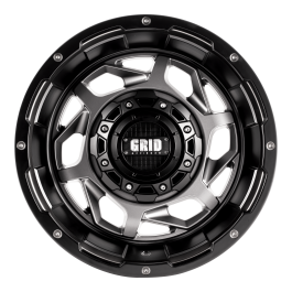 GVM LANDCRUISER WHEEL GRID GD14 MATTE ANTHRACITE BLACK LIP 1650KGS (17X9 5X150 -12)